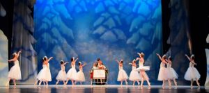 Sleigh scene in The Nutcracker